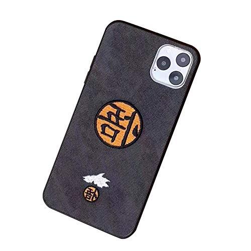 Romenoir Dragon Ball Populares Animado modelada por teléfono al Caso de la Cubierta Protectora Mejor Anti Slip Caso de la Cubierta de protección contra Golpes (Color : Black, Size : Iphone6s)