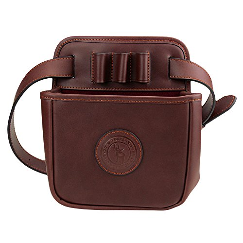 TOURBON Leather Waist Rifle Ammo Bag Shotgun Shell Holder Cartridge Pouch (Hold 12 Gauge,16 Gauge,20 Gauge)