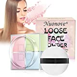 Loose Face Powder, Finishing Powder, Pressed Powder, Controls Shine, Won't Clog Pore, for Setting Makeup or as Foundation, Lightweight, Long Lasting(four colors)