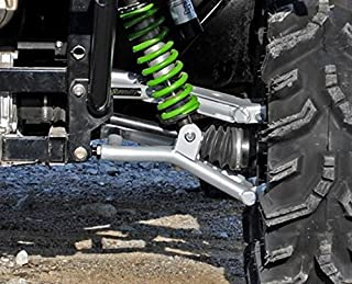 Super ATV Kawasaki Teryx 4 High Clearance Rear Offset Rear A-Arms (Black)