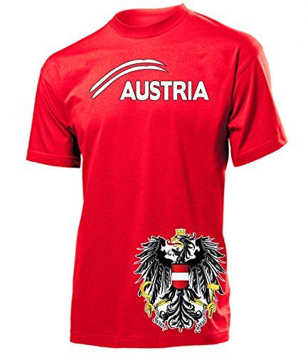 Österreich Austria Fan t Shirt Artikel 5084 Fuss Ball EM 2020 WM 2022 Team Trikot Look Flagge Fahne Jersey World Cup Männer Herren Jungen XL