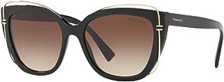 Tiffany & Co. TF4148-80013B Sunglasses BLACK W/BROWN GRADIENT LENS 54mm