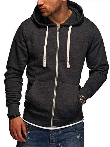 JACK & JONES Herren Sweatjacke Hoodie Kapuzenjacke Sweatshirt Kapuzenpullover (Medium, Dark Grey Melange)