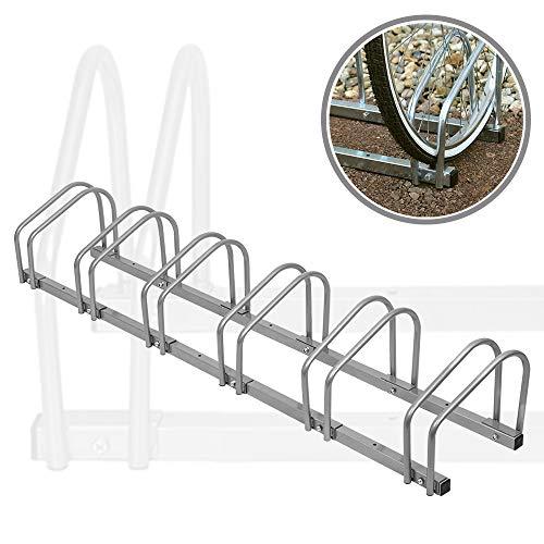 Aufun Fahrradständer Aufstellständer Fahrrad Ständer Boden Wand Montage Metall Platzsparend (Für 6 Fahrräder)