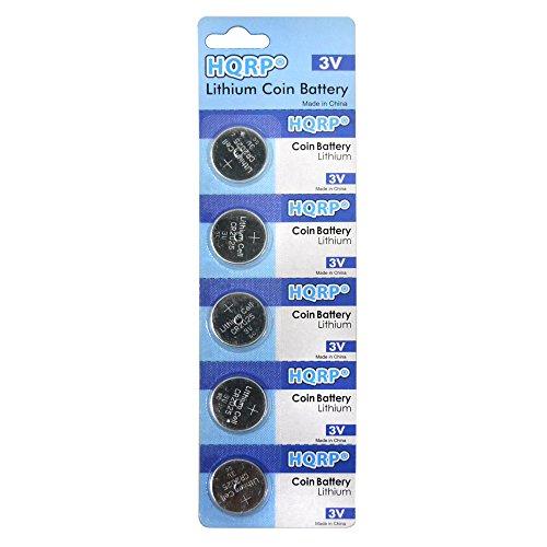 HQRP Batería de litio / Pilas de Botón (paquete de 5) para