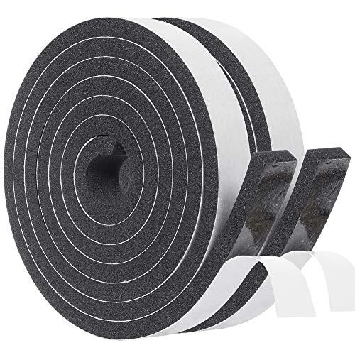 隙間テープ フォームシールテープ ネオプレン発泡ゴム 粘着? フォーム絶縁テープ 高密度防音絶縁 クッション シール ゴムスポンジ 20mm (幅) x 8mm( 厚さ )x 2m (長さ) x 2本