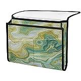 ECHOBU - Organizador de mesita de noche, diseño abstracto de mármol, color dorado