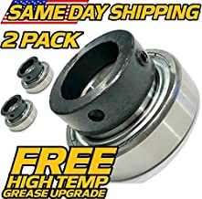 (2 Pack) Grasshopper 120081 Bearings - High Temp Grease - OEM Upgrade - HD Switch