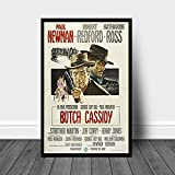Sanguolun Cuadros Decorativos Butch Cassidy and The Sundance Kid póster de película Lienzo impresión hogar Pintura de Pared decoración 60x90cm