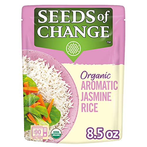 SEEDS OF CHANGE Organic Jasmine Rice, 8.5 Ounce (Pack of 12)