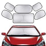 Nuluxi Auto Parabrezza Pieghevole Protettore Argento Parasole per Parabrezza Set Evitare Raggi Ripiegabile Parasole Riduce Efficacemente la Temperatura Dell'auto e Blocca Le Radiazioni Ultraviolette