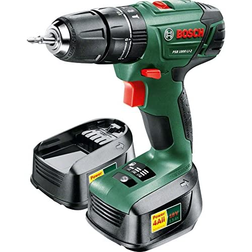 554dd20f08350 Bosch PSB 1800 LI-2 Cordless Combi Drill with Two 18 V Lithium-Ion