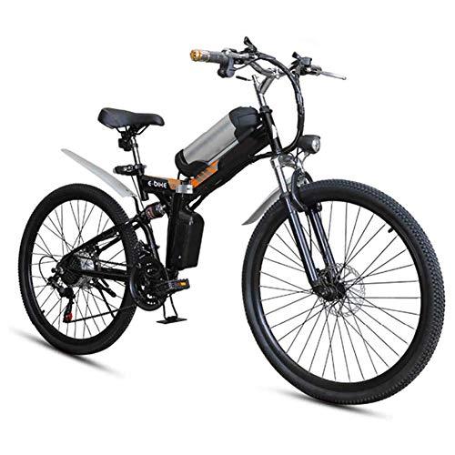AGWa Zusammenklappbares Elektrofahrrad mit dem Moped, Zusammenklappbares Elektrofahrrad für Erwachsene 25 km/h Fahrradführer Bürstenloser Motor, kontinuierliche 80 km Tragfähigkeit 100 kg