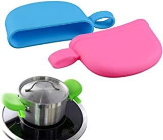 2pcs Kitchen Utensil Silicone Cookware Holder Grip Sleeve Anti-scalding Saucepan Handle Cover Pot Heat Resistant Anti-skid...