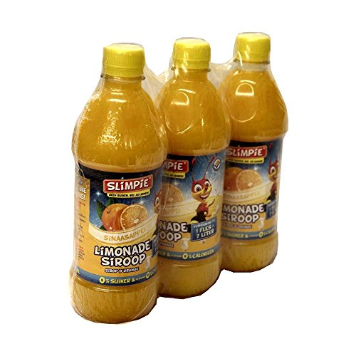 Slimpie Limonade Siroop Sinaasappel 3 x 580ml Flasche (Getränke-Sirup Orange, Zuckerfrei)