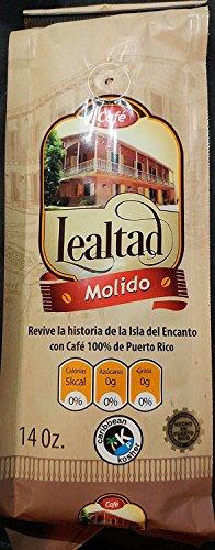 Lealtad Ground Coffee 14 Ounces (Cafe from Puerto Rico) Medium Dark Roast - Includes 2 Envelopes of Sason Accent Seasoning