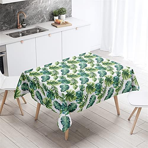 Cactus Planta Impreso Café Impermeable Mantel Cuadrado Cocina Mantel Rectangular Interior Y Exterior Sala De Estar Decoración Navidad Fiesta De Halloween 140x200cm