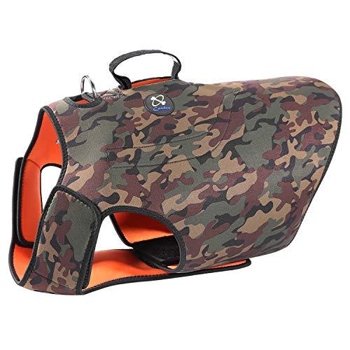 COODEO Dog Hunting Vest, Reversible Reflective Vest Orange Hound Jacket for Protection...