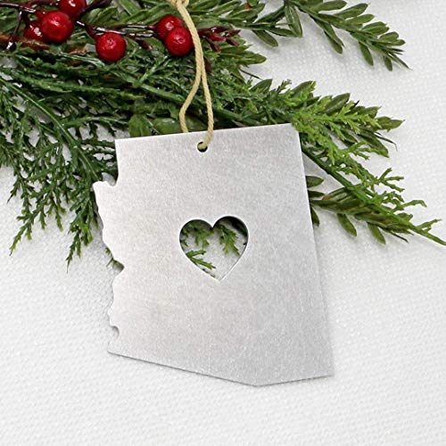 Arizona Metal Ornament State Gifts Christmas Tree Holiday Party Decorations Home Decor