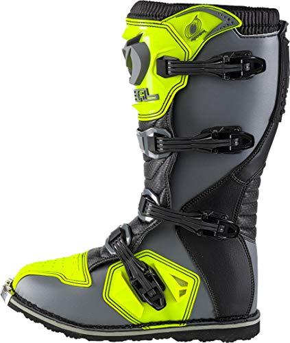 O'Neal Rider Boot MX Cross Stiefel Grau Gelb Hi-Viz Motorrad Enduro Motocross Offroad, 0329-9, Größe 43 - 5