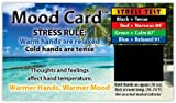 Fast stress test, easy to read, use over and over again. Measures temperature Range 81 degree to 91 degree F Full Color Heavy card stock printed on both sides Business card, 3.5 inch x 2 inch, thick with UV gloss coating Great for Health Fairs, works...