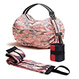 Photo Gallery aysow borsa pieghevole riutilizzabile shopper 2 pack tote bag mano borsa a tracolla foldaway grocery eco-friendly durable washable large capacity bag for traveling shopping