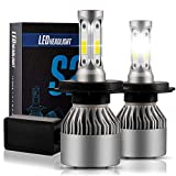 H4 9003 HB2 LED Light Bulb Conversion Kit, SZFLWA X-S2 Series H4 9003 HB2 Headlight - Xenon White 6500K (With Control Driver)