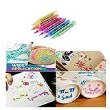 Fine 6 Pcs Magic DIY Bubble Popcorn Drawing Pens, Creative Art Marker Crafts Supplies Stationery,Children's Bubble Thermal Expansion Pen (A)