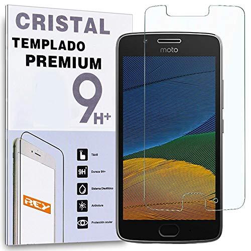 REY Protector de Pantalla para Motorola Moto G5, Cristal Vidrio Templado Premium