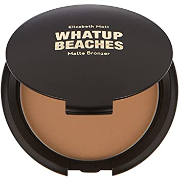 Vegan and Cruelty-Free - Fine Lightweight Bronzer Powder for Face  Elizabeth Mott Whatup Beaches Facial Bronzing Powder for Contouring and Sun Kissed Coverage - Matte  10g