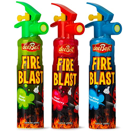 Fire Extinguisher Blast Sour Candy Spray | Variety Pack | 3 Count | Certified Kosher