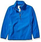 Amazon Essentials Kids Boys Polar Fleece Quarter-Zip Pullover Jackets, Blue, Large