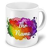 printplanet XXL Riesen-Tasse mit Namen personalisiert - Motiv Color Paint - individuell gestalten -...