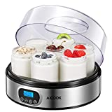 Yogurtiera Elettrica con Display LCD e 7 Vasetti da 200ml,...