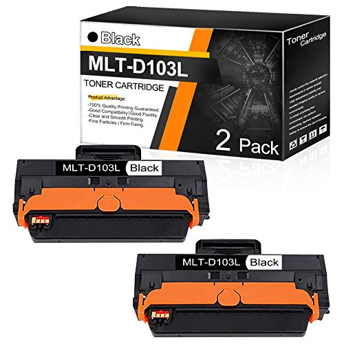 MLT D103L (3,000 Page Yield) 2 PK Compatible Black Toner Cartridge Replacement for Samsung SCX-4728FD 4729FW 4729FD ML-2951ND 2951D 2955ND 2955DW Printers Toner Cartridge.