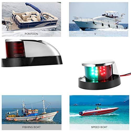 GOFORJUMP 1 Pcs Marine Bateau Yacht Bi-Couleur Lampe 12V LED Feu de Navigation à l'arc 1 Pièce