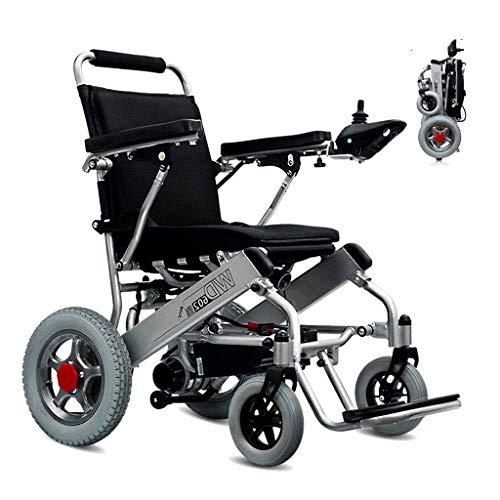 AMINSHAP JRWD602 Elektro-Rollstuhl, Leichtgewicht Doppelfunktion Faltbare Elektro-Rollstuhl (Lithium-Batterie 20A 24V) Öffnen/Falten in 1 Sekunde, Leichteste Und Kompakte Elektrorollstuhls