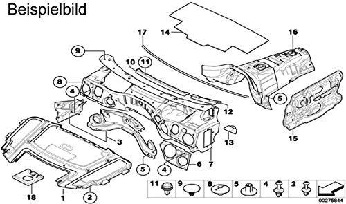 Original BMW Schallisolierung Tür vorn links 3er F30 F31 F80 51487286655
