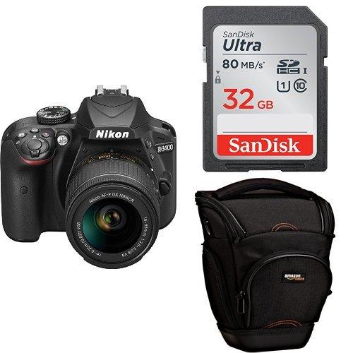 Nikon D3400 + SDXC de 32 GB + Funda AmazonBasics: Amazon.es ...