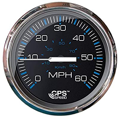 Faria Beede Instruments Ches S/s Blk Gps Speedo 60 Mph 33749