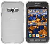 mumbi Hülle kompatibel mit Samsung Galaxy Xcover 3 Handy Hülle Handyhülle, transparent Weiss