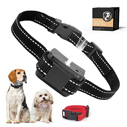 SOYAO Collari per Cani Anti-abbaio, dispositivi Anti-abbaio per Cani con Spray Automatico per l'addestramento dei Cani, Collare Anti-abbaio per Cani di Taglia Piccola Medio-Grande.