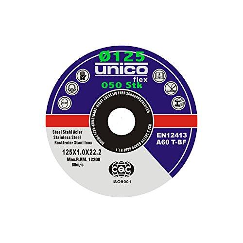 50 Stück Trennscheibe Ø 125mm x 1.0mm für Winkelschleifer Stahl Edelstahl Flexscheibe Inox Metall