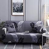 Funda de sofá geométrica elástica para Sala de Estar, sofá de Esquina seccional Moderno, Funda Protectora para sofá, Protector de Silla A19, 4 plazas