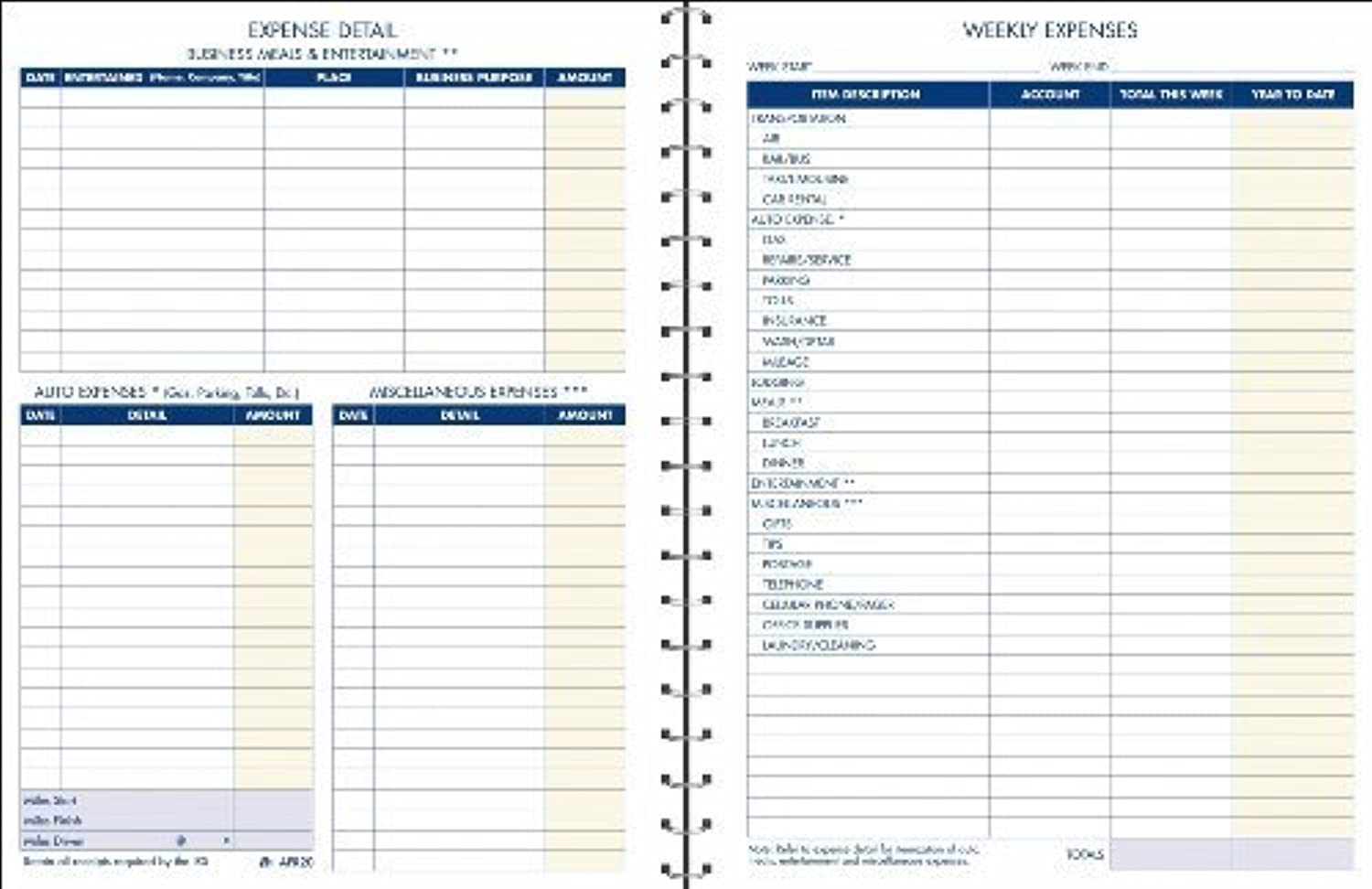 Adams Kosten Konto Record Book, Spiralbindung, 21,6 x x x 27,9 cm, Clear (afr20) by TOPS Business Forms, Inc. B00NJ66ZCE | Neue Produkte im Jahr 2019