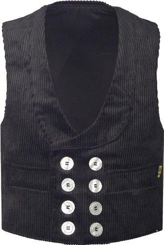JOB Zunftvest van trenkercord, kleur: zwart