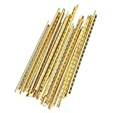 Rockyin 19 Pcs Brass Frets Wire Fretwires Repair Replacement Parts for Classical Acoustic Guitars