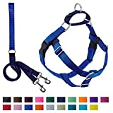 2 Hounds Design Freedom No-Pull Dog Harness with Leash, Large, 1-Inch Wide, Royal Blue