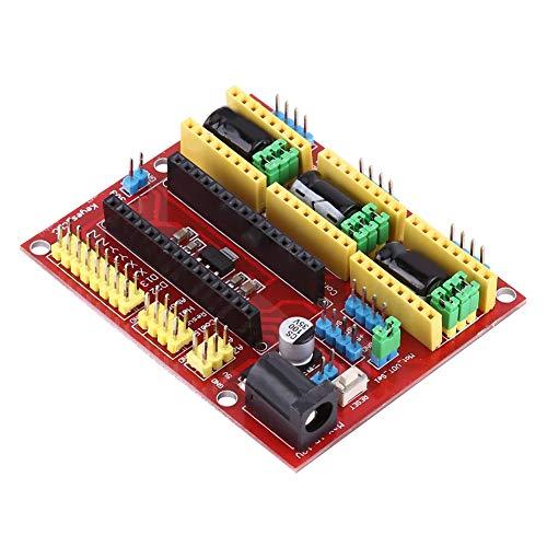 PUSOKEI A4988 V3 Engraver Drive Shield 3D-Drucker CNC-Laufwerk Erweiterungskarte für Arduino 3D-Drucker CNC mit 3 Kühlkörpern