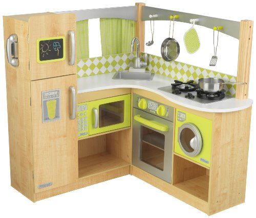 Limited Edition KidKraft Wooden Lime Green Corner Kitchen
